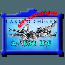 $115 Lake Michigan Dive Gift Certificate