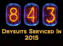 Drysuits repaired in 2015
