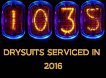 Drysuits repaired in 2016